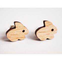 Hasen Ohrstecker aus Holz