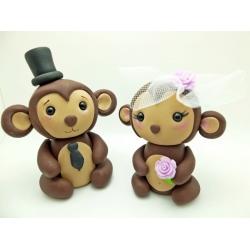 Affen Hochzeit Tortenfiguren