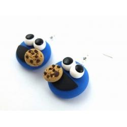 Krümelmonster Cookie Ohrringe