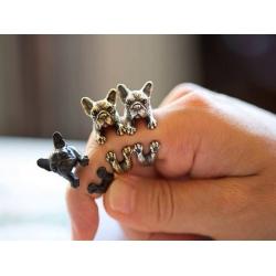 Ring Französische Bulldogge - Größenverstellbar Tiermotiv - Hunde