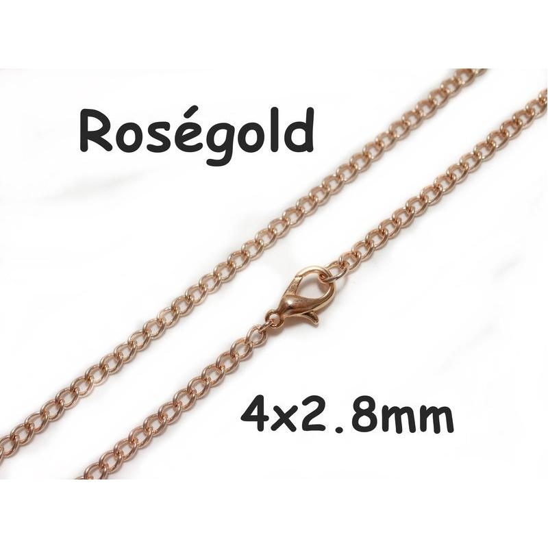Rosegold-Panzer-Halskette-Cuban