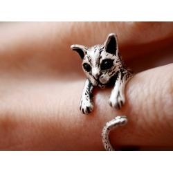 Ring-Katze-silber