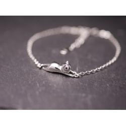 Katzen Armband-Kette- 925er Silber