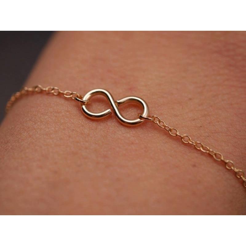 armband mit infinity_ gold
