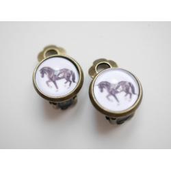 Pferd Ohrclips Ohrringe