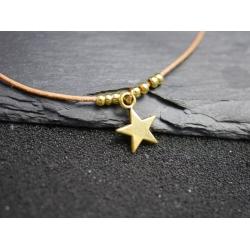 Lederarmband_ mit kleinen sternen
