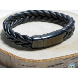 leder - armband - geflochten