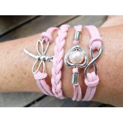 wickelarmband rosa