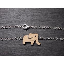 armband elefant holz anhänger