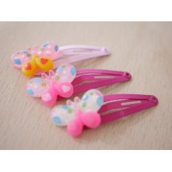 2x Haarspangen Schmetterling