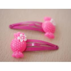 2x Haarspangen Bonbon