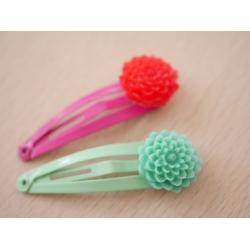 2x Haarspangen Blume