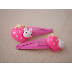 2x Haarspangen Erdbeere...