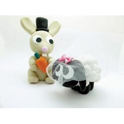 Hase und Schaf Brautpaar 2 - Kopie