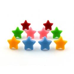 Stern Ohrstecker oder Clips Kinderschmuck - Fimo
