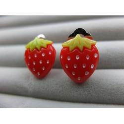 Erdbeer Ohrclips Ohrringe