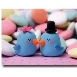 Vogel Brautpaar Hochzeitstortenfiguren