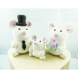 Mausfamilie Hochzeitstortenfiguren