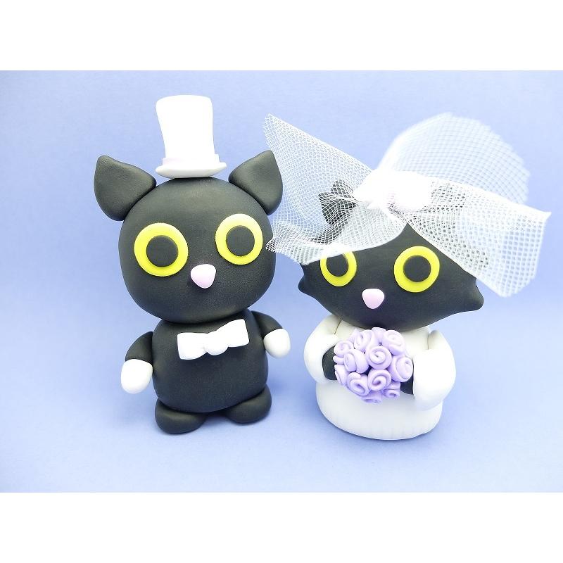 Katzen Hochzeit Tortenfigur smaller