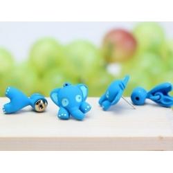 elefant blau ohrstecker