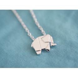 Elefant an der Kette - Silber -