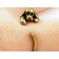 Hunde Ring bronze