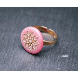Ring mit Blume - Mandala -...
