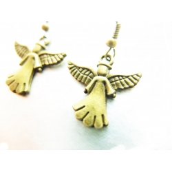 1x Paar Bronze Engel...