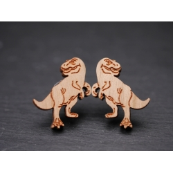 Echtholz Ohrstecker T-Rex Dinosaurier
