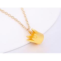 Kette Krone Anhänger - gold
