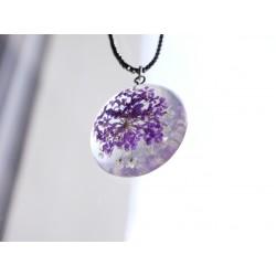 Transparent Blume Halskette