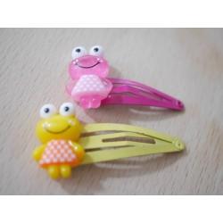 2x Haarspangen Frosch