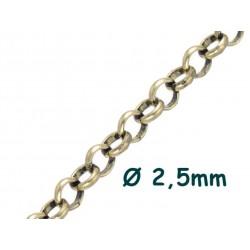 1 Meter Erbskette 2mm, 2.5...