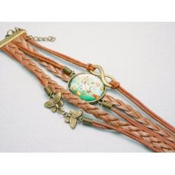 cabochon baum armband