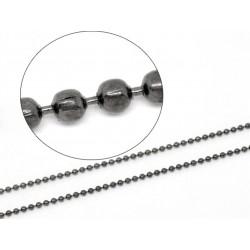 1m Kugelkette schwarz 1,5mm...