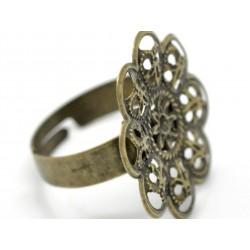 Cabochon Ring Fassungen bronze
