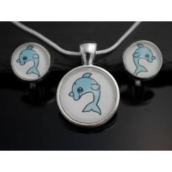 Cabochon Schmuckset Delfin