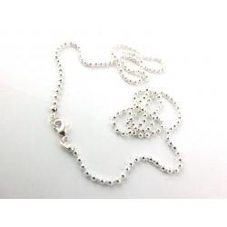 5 Silber Halsketten 50cm...