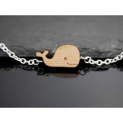 Armband mit Wal aus Holz