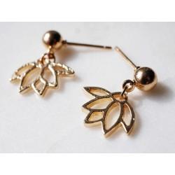 Lotus Ohrhänger - Gold