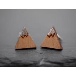 Holz Ohrstecker Berge mit...