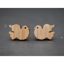 Holz Ohrstecker Täubchen