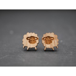 Holz Ohrstecker Schäfchen
