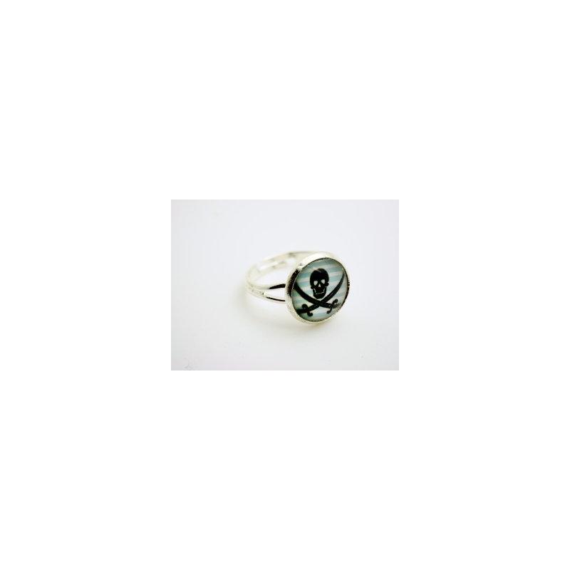 Schädel Cabochon  Ring