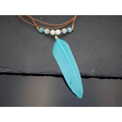 Elegante Feder Halskette...