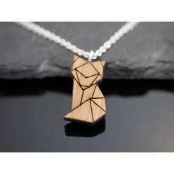 Halskette mit Holz Anhänger...