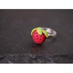 Erdbeerring aus Fimo -...