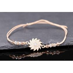 Baumwoll Armband mit Perlen...