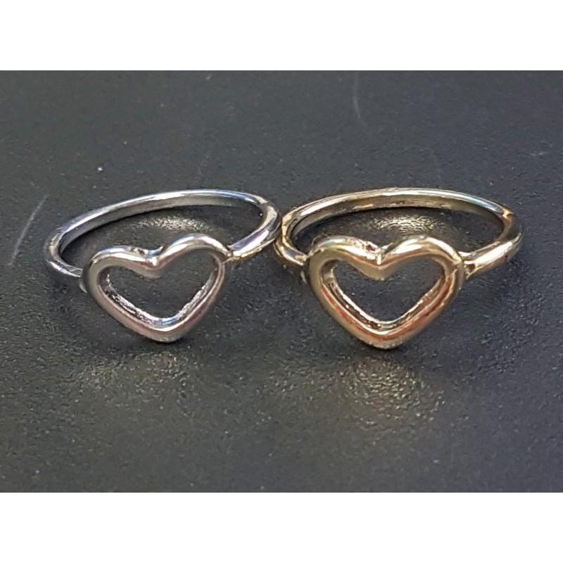 Herz Ring Silber/ Gold