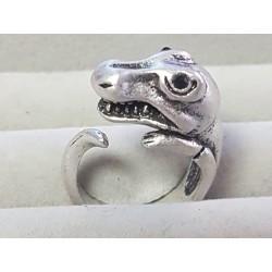 Altsilber Ring T-REX Dinosaurier